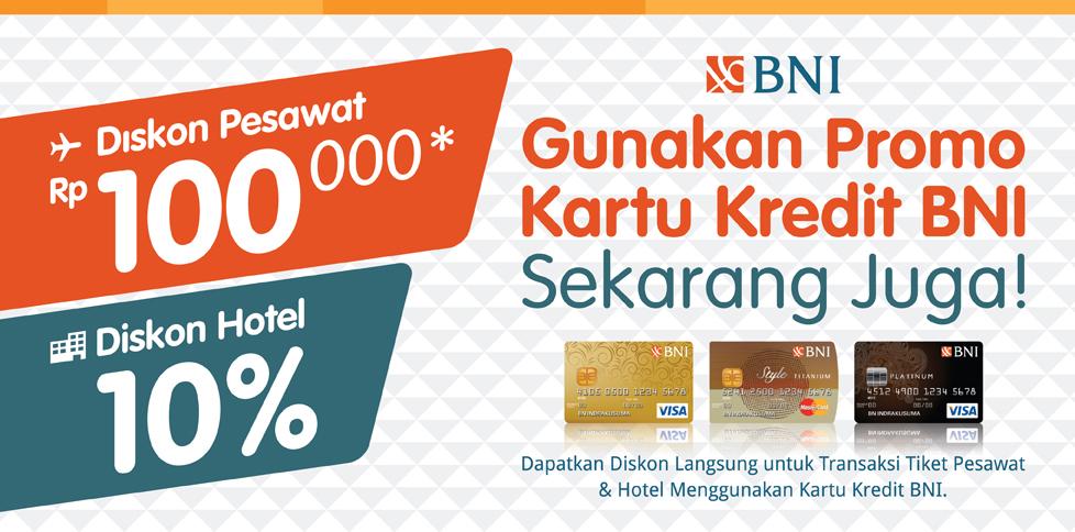 Promo Kartu Kredit BNI di Tiket.com