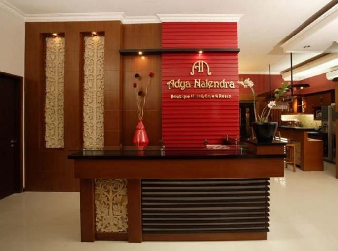 Adya Nalendra Boutique Hotel Reception