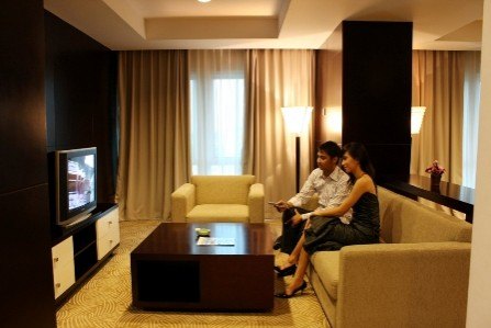 The Jayakarta Daira Palembang Living Room